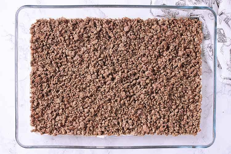 Ground beef layer.